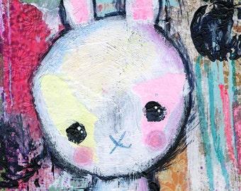 Wall art for girls room- girls room decor- original art- whimsical art