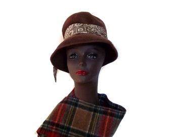 50s Felt Hat / MARISSA / Fashion Accessory