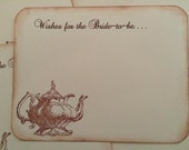 Tea Party Wishes for the Bride To Be - 30 Bridal Shower Vintage Tea Pot Wish Cards