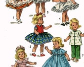 Doll Clothes PATTERN 1809 for 8 inch Alexander-Kins Ginny Muffie by Vogue Dress Pinafore Slip Petticoat Panties Blouse Pants Evening Gown