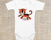 Little Tiger Onesie, Baby Bodysuit, 100% cotton, 6 mo, 12 mo
