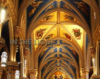 Interior of Notre Dame Sacred Heart Basilica - Fine Art Photography