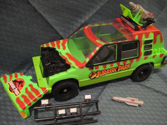 Jurassic Park Jungle Explorer Green Vehicle Complete With All