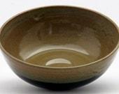 Brown Black Serving Bowl Medium - in Evening Firelight Glaze Combo