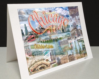 Chitown 5 x 7 Greeting Card - Chicago, IL