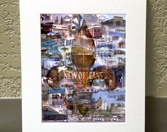 NOLA 11 x 14 Matted Print - New Orleans, LA