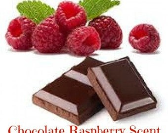 CHOCOLATE RASPBERRY Scented Soy Wax Melts - Soy Candle Tarts - Fruit - Wickless Candle - Air Freshener - Highly Scented - Handmade In USA