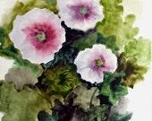 Ikebana - original watercolor painting