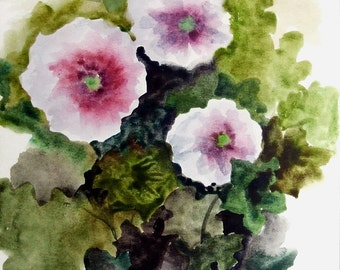 Ikebana - original watercolor painting