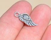 BULK 50 Silver Wing Charms SC1795