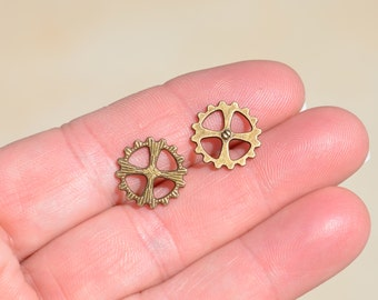 20 Antique Bronze 14mm Gear Connector Charms BC3109