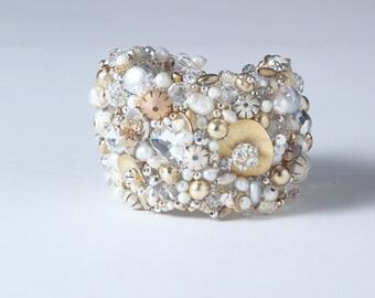 Snow Fall Cuff Bracelet