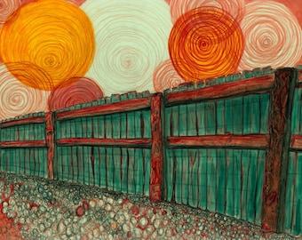 Fence Print