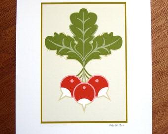 Radish Trio Art print Craftsman Style