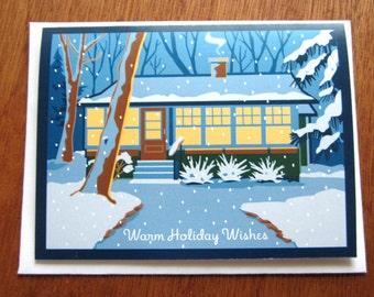 Cabin, Holiday Card