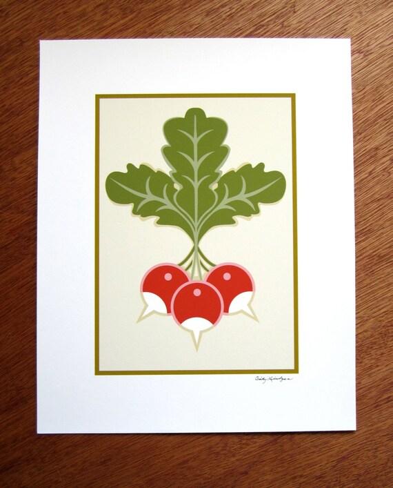 Radish trio art print craftsman style for Craftsman style prints