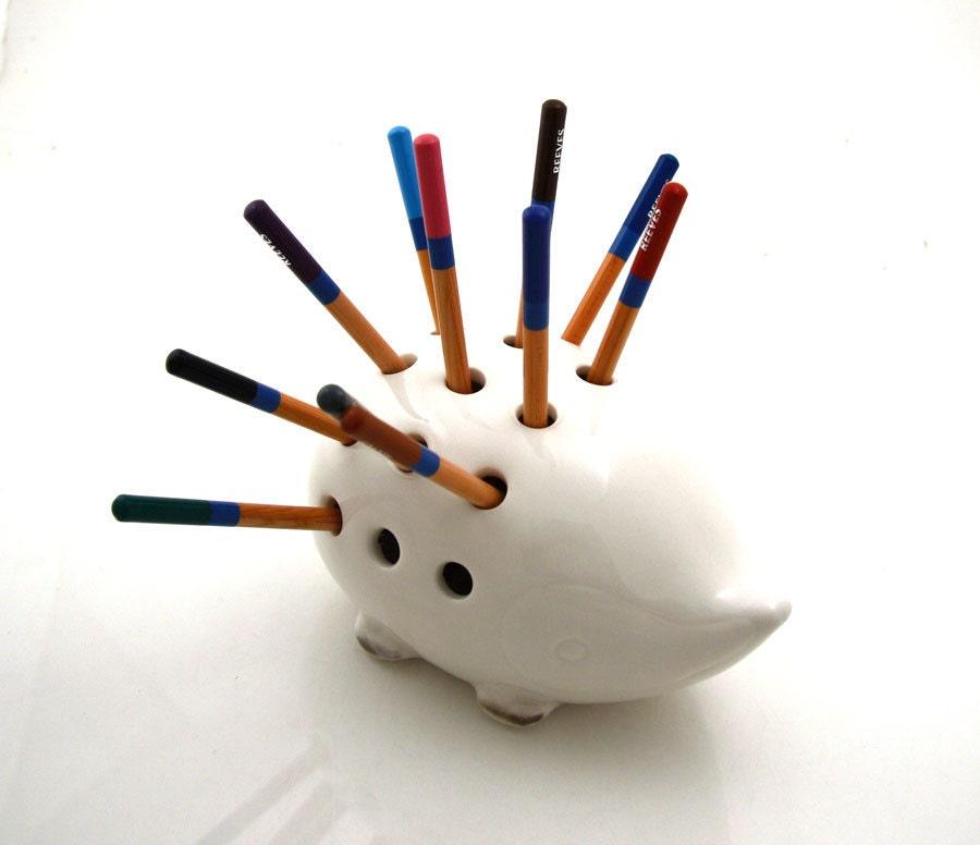 Hedgehog Porcupine Pencil Holder Great Gift For Co Worker Or