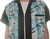 Men's Rockabilly Shirt Jac Elvis Design