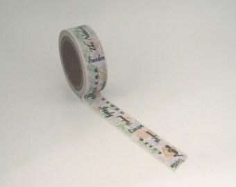 Travel Stamp Washi Tape