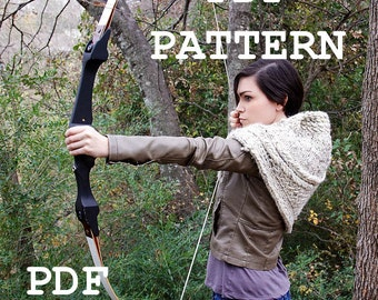 PATTERN PDF - Knitting Pattern for DIY Katniss Inspired Cowl - 2 sizes - video tutorial links included with purchase