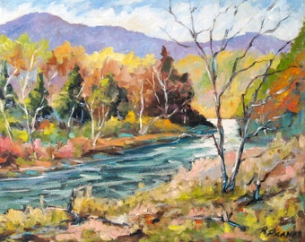 Laurentian Hills Original Oil Painting created by Prankearts