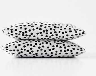 Polka Dot Lavender Sachets - Black and White Bedroom Decor - Cotton Anniversary Gift