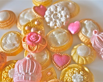candy buttons-vintage marzipan buttons-weddding cake decorations-candy decorations-cupcake decorations-cake pops-cupcakes