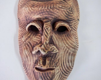 Day Dreaming stoneware wall mask