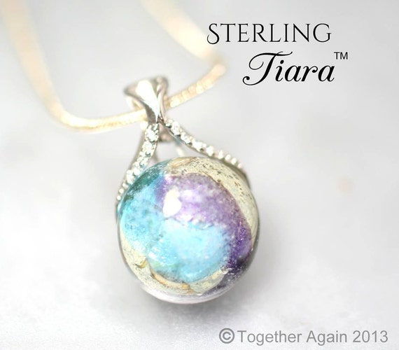 Sterling Tiara Cremation Jewelry Handmade By