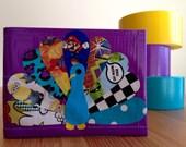 Pattern Peacock Duct Tape Wallet - Purple Bifold