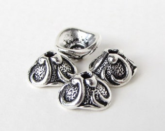 TierraCast Antiqued Silver Ox Bead Cap Lily Flower Cone 8mm bcp0047 (4)