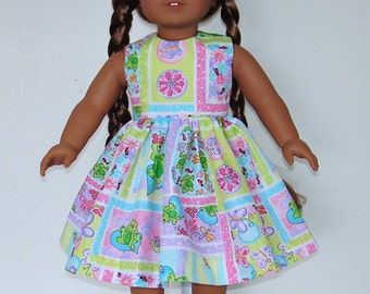 Summer dress designed for American Girl 18 inch doll   No. 573
