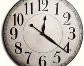 Large Wall Clock 30in CAMBRIDGE Linen Gallery Antique Style Big Round Clocks FREE INSCRIPTION