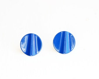 Royal Blue Wave Studs