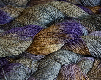 Nuthatch, Hand painted yarn, fine cotton/rayon cable, 300 yds - Summer