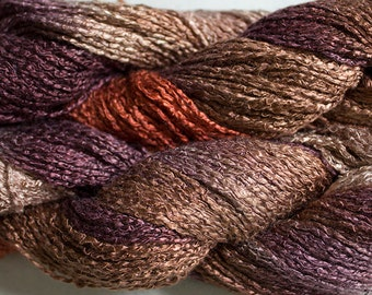 Finch, Hand-dyed Rayon Boucle Yarn, 225 yds - Pheasant