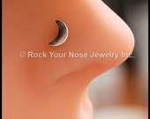 Moon Nose Stud/Crescent Moon Nose Ring/Nose Stud Silver/Silver Nose Bone/Fishtail Nose Stud/Sterling Nose Ring/Rock Your Nose/  - CUSTOMIZE