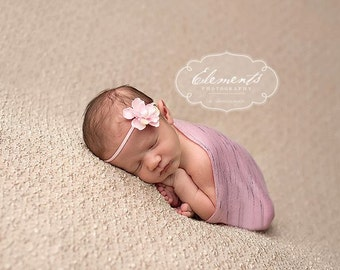 Pink Fabric Baby Wrap and Headband, Baby Wrap, Pink Wrap, Newborn Photo Prop, Photo Prop, Ready to Ship