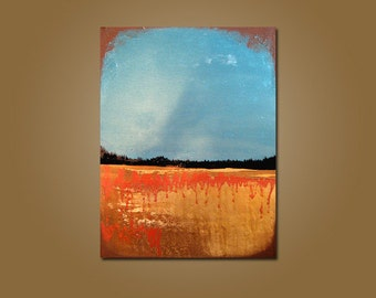 Northern Sky - 18 x 24, Heavy Textured, ORIGINAL, Contemporary Abstract PAINTING Art