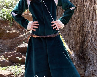 MERIDA Dress Disney BRAVE Inspired Merida Costume Princess Dress