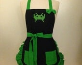 Space Invaders Embroidered Apron - Pick Your Color!