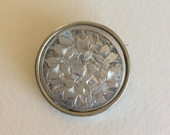 Vintage Victorian silver brooch pin