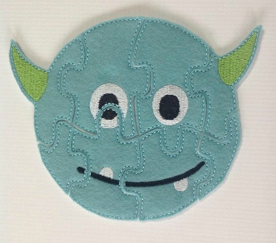 Monster Alien Felt Puzzle Children's Toy Game