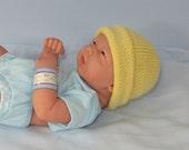 instant Digital File pdf download knitting pattern - Preemies, Tiny & Newborn Simple 4 Ply Beanie pdf knitting pattern