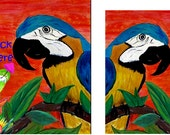 Parrot head It's 5 O'Clock Somewhere Floor mat from art - custom sizes available