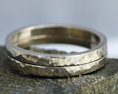 Solid Extra-Thick Recycled Gold Ring- 14k or 18k Gold Bands Custom Made