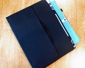 Black Tract and Magazine Holder, Organizer, Tablet Sleeve