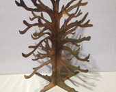 Copper patina Jewelry tree display home or retail use rustic light weight portable artisan design