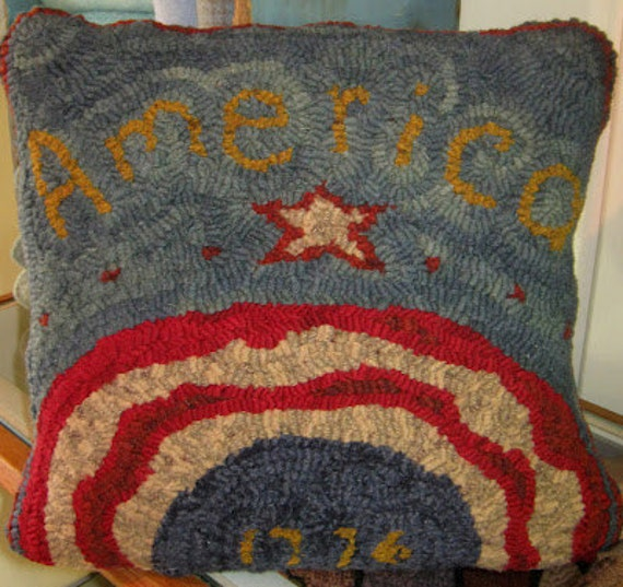 America Primitive Paper Rug Hooking PatternBy Cathy G. Red