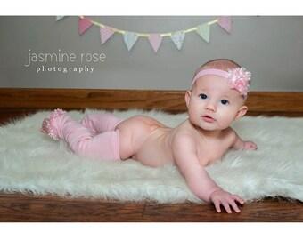 Pink Baby Leg Warmers and Headband Set